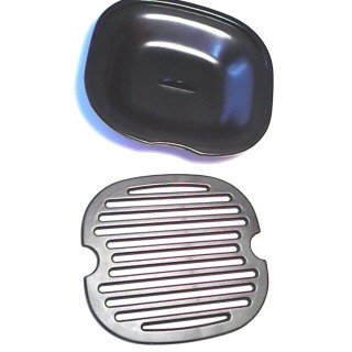PAVONI PLASTIC TRAY WITH CUP SUPPORT GRID PLASTIC