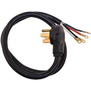 4' X 4 WIRE PRONG RANGE CORD - 40 AMP