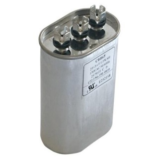 OVAL DUAL RUN CAPACITOR 20/5 MFD 370 V