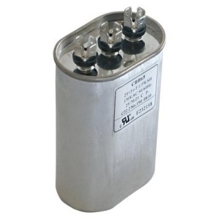 OVAL DUAL RUN CAPACITOR 25/10 MFD 370 V