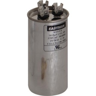 ROUND DUAL RUN CAPACITOR 55/7.5 MFD 370 V