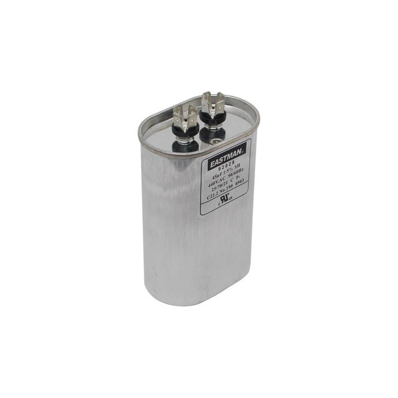 OVAL RUN CAPACITOR 5 MFD 370 V